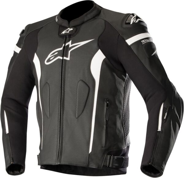 3100118 1200 MISSILE Leather Jacket Tech Air Comp Black White