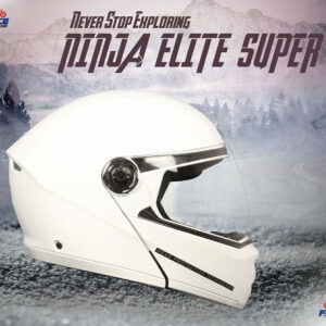 studds ninja elite super glosy white